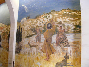 Photo: Here, he recreates the shepherds at the Nativity, but with a Provençal landscape and theme.