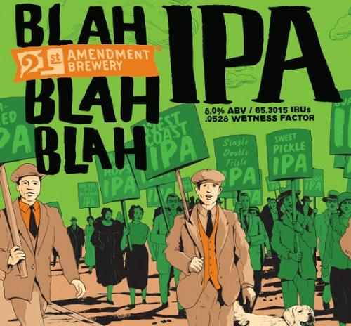Logo of 21st Amendment Blah Blah Blah IPA