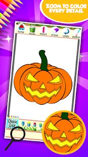 Halloween omalovánky k vytiskn - náhled