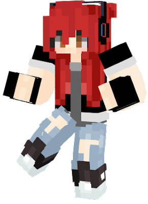 A new gaming outfit that I have personally made for since the old one has got a type of glitch problem with the hands down below... ^^
