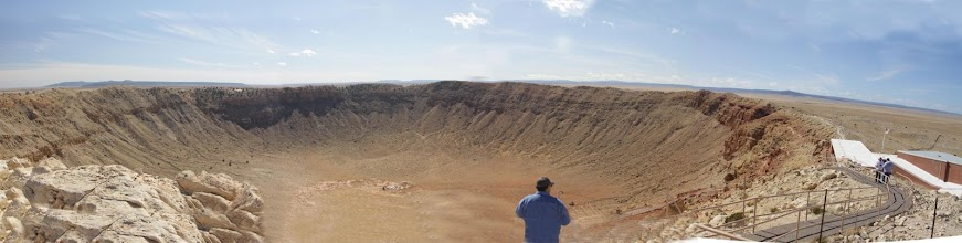 Photo: Panoramic view of Meteor Crater, AZ, using three images
