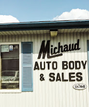 Photo: Michaud Auto Body & Sales in Woonsocket, RI proudly displaying their BBB Accreditation