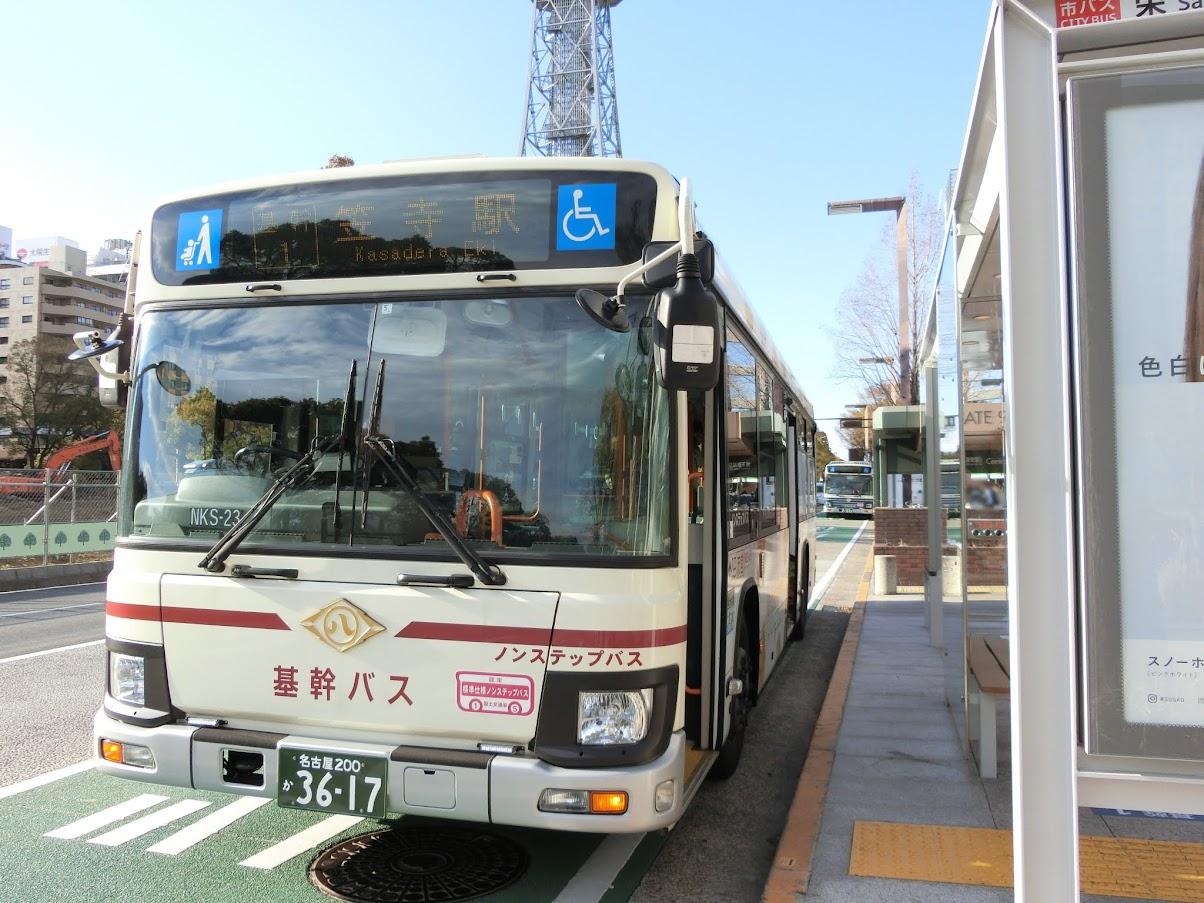 栄バスターミナルオアシス21路上のりば基幹バス笠寺駅行き