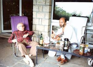 Photo: Friedrich Dürrenmatt i  Andrzej Siedlecki -  w Lozannie.