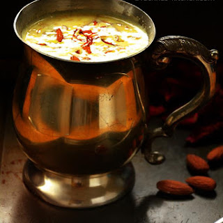 Kesar Badam Milk Recipe, How To Make Kesar Milk | Saffron Almond Flavoured Milk.
