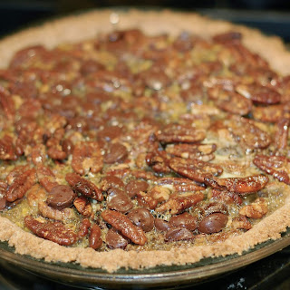 Shortcut Chocolate Pecan Pie.
