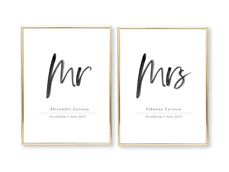 PARPOSTERS MR & MRS HANDSTIL