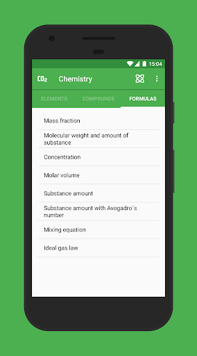 Chemistry Apps voor Android screenshot
