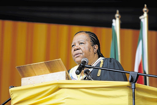 Higher education and training minister Naledi Pandor. Picture: DAILY DISPATCH