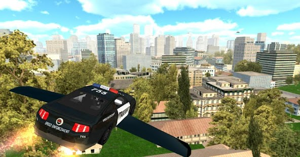 Flying Police Car Simulator- screenshot thumbnail