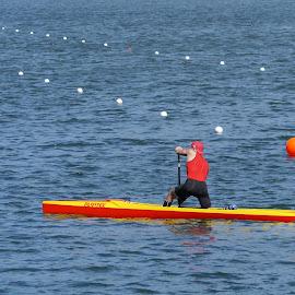 Canoeing - XII by Joatan Berbel - Sports & Fitness Watersports ( watersports, movement, sports, canoe, colorfull )