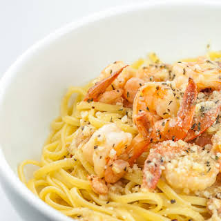 Garlic Shrimp Pasta.