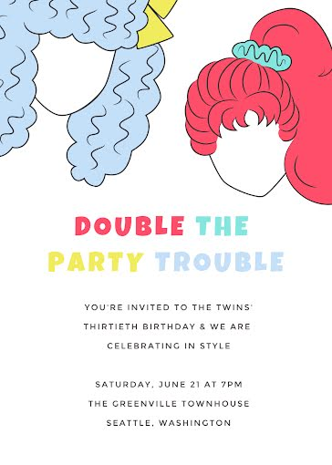 The Twin's 30th Birthday - Birthday Card Template