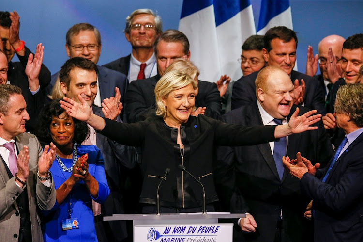 Marine Le Pen, French National Front (FN) political party leader and candidate for the French 2017 presidential election, attends Sunday's political rally to launch her presidential campaign in Lyon, France. Picture: REUTERS/ROBERT PRATTA