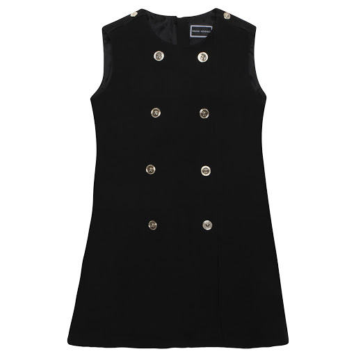 Primary image of Young Versace Black Sleeveless Button Dress