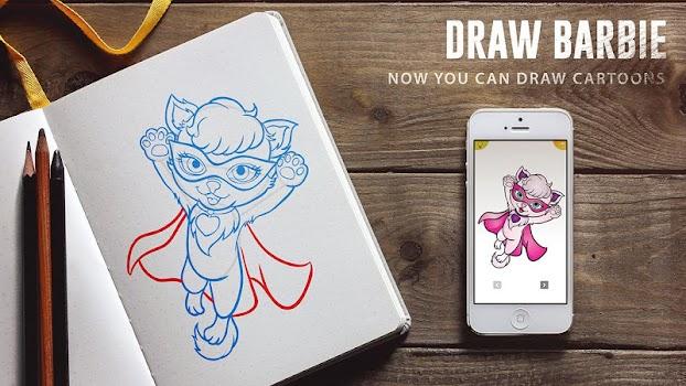 How to Draw Barbie dolls