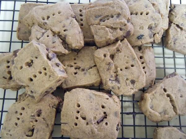 Chocolate Chip Espresso Shortbread Cookies