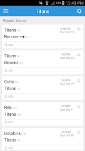 Football Schedule for Titans screenshot 2