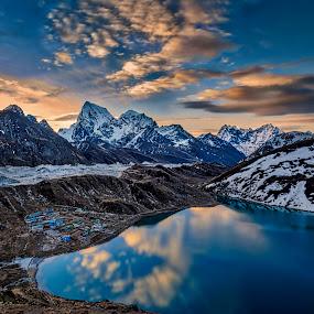 Big Mountain by Tien Sang Kok - Landscapes Mountains & Hills ( reflc, mountain, nature, sunrise, landscape )