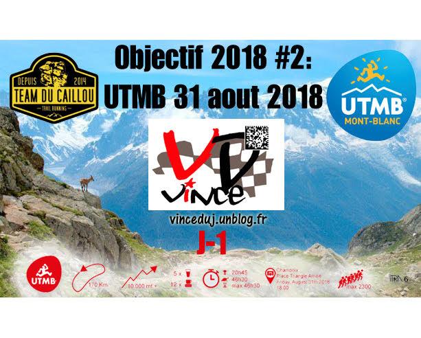 Jeudi 30 aout 2018: UTMB J-1 dans trail