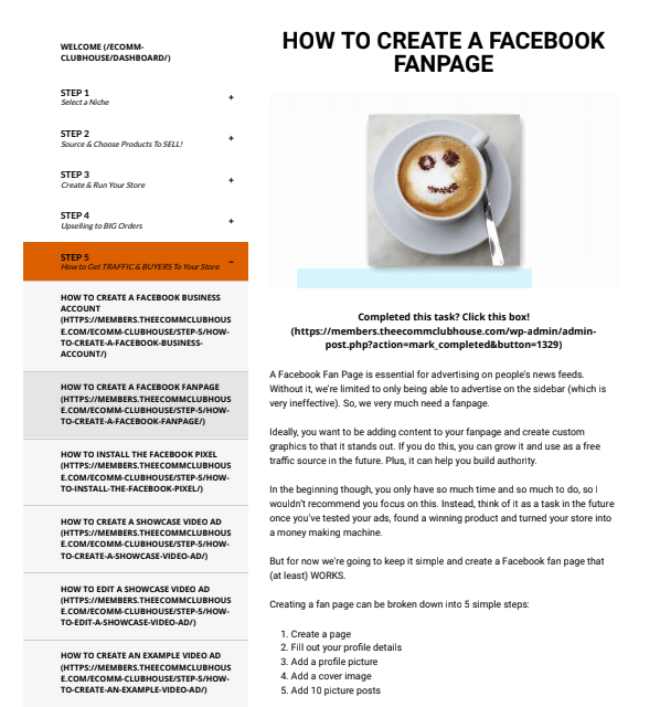 the ecomm clubhouse facebook fan page tutorial sarah chrisp