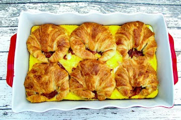 Croissant Breakfast Sandwich Casserole Recipe