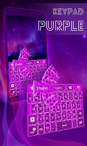 鍵盤紫色獵豹
