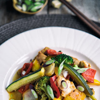 Orange, Chicken And Vegetable Stir-Fry.