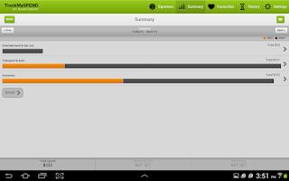 Screenshot of TrackMySPEND