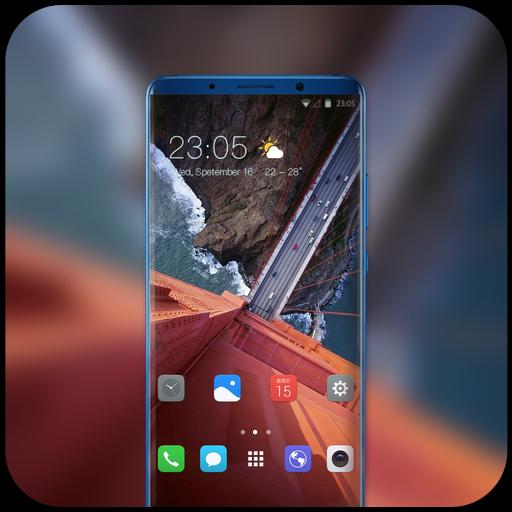 Theme for vivo v9 pro landscape bridge wallpaper icon