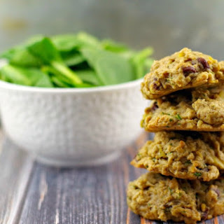 Healthy Tropical Green Chocolate Chip Cookies.