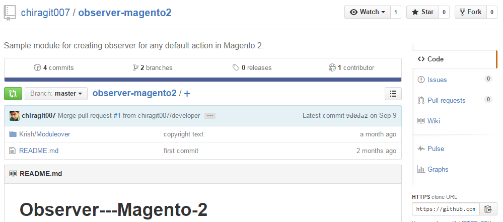 Observer extension for Magento 2