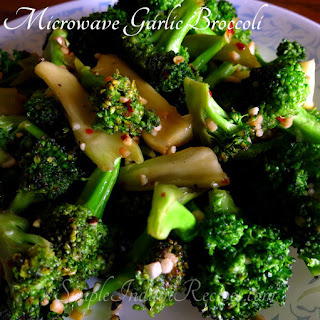 Microwave Garlic Broccoli.