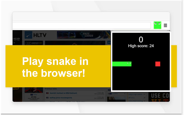 Snake game in popup
