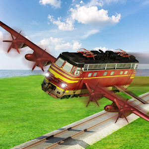 Flying Train Future Race for PC and MAC
