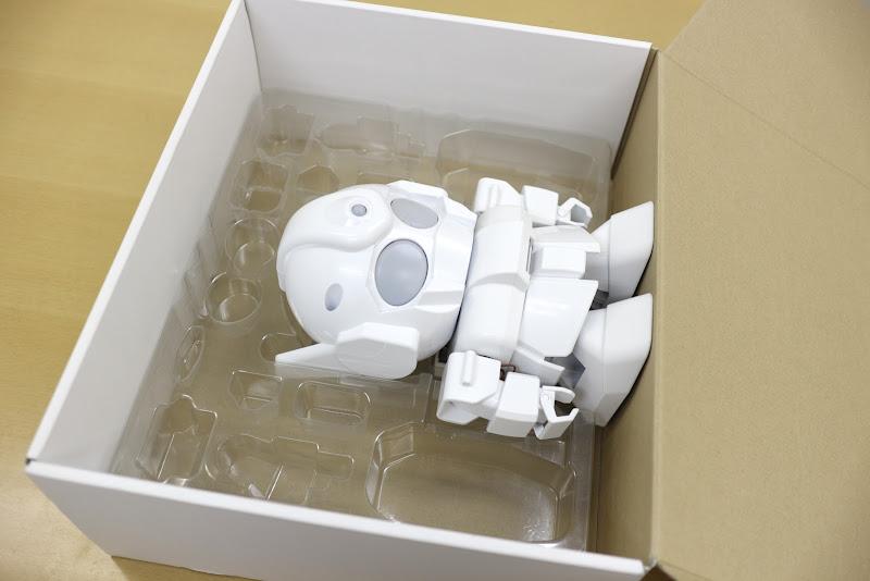 Photo: 組み立て終わったRAPIROはもとの箱にも入るようになっています。