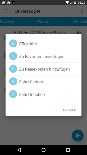 DriversLog NT Fahrtenbuch screenshot