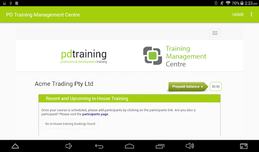PD Training Management Center- screenshot thumbnail