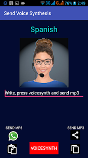 Send voice synthesis - náhled
