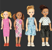 Pep stores said the exact same mould gets used as the same supplier makes both the white and brown dolls. They added that both the small and the large dolls' features are identical.