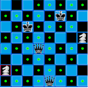 Chess Queen, Knight and King Problem