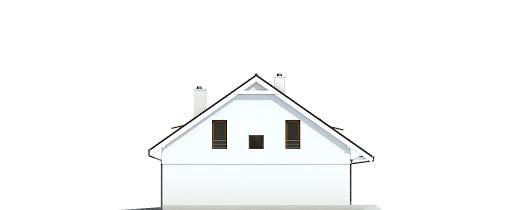 Głuszec z garażem 1-st. bliźniak A-BL1 - Elewacja prawa