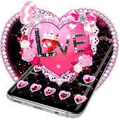 Pink Love Heart Diamond Gravity Theme