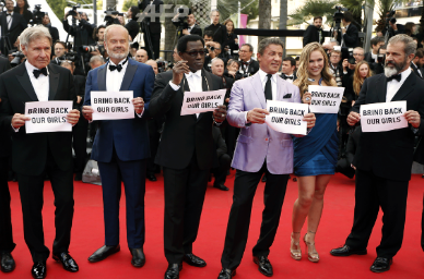 Photo - 'The Expendables 3′ Cast Joins #BringBackOurGirls In Cannes