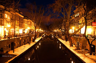 Photo: Utrecht by night, 24 januari 2013.