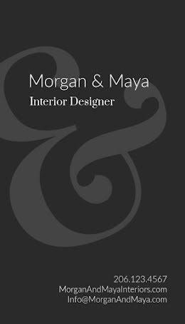 M&M Interior Design - Business Card item