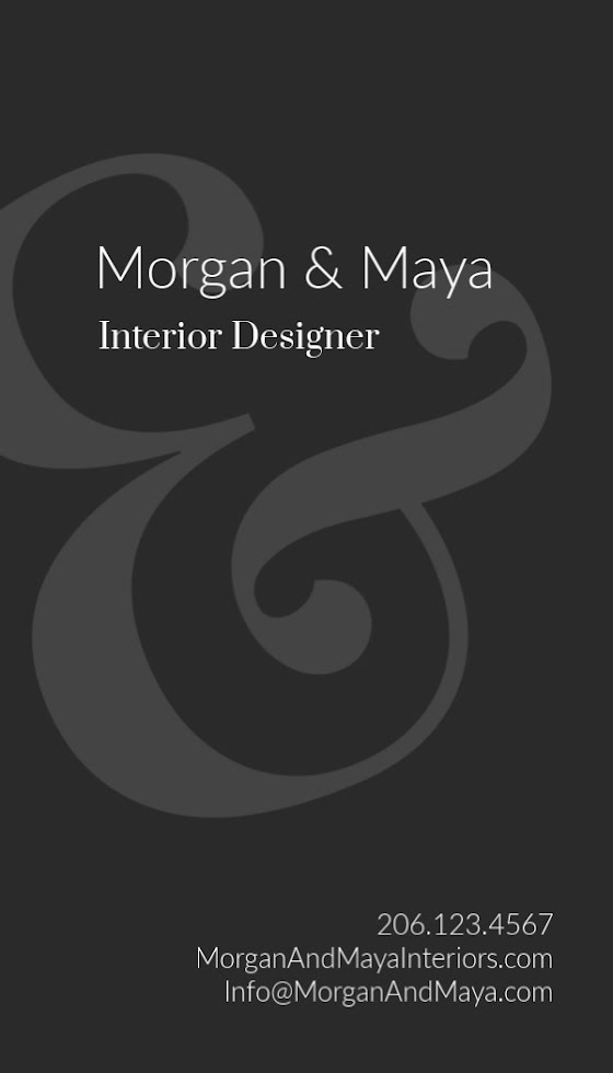 M&M Interior Design - Business Card Template