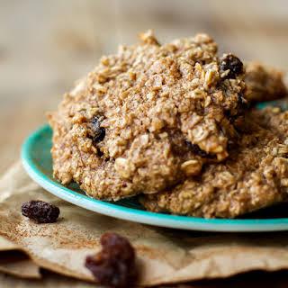 Crispy Oatmeal Raisin Cookies.