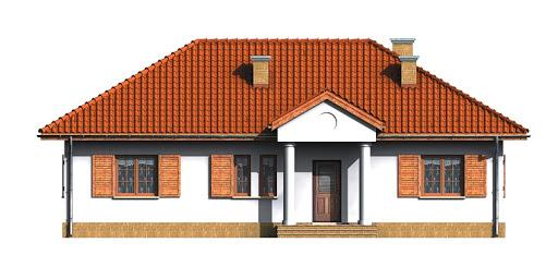 Dom przy Bukowej - Elewacja przednia