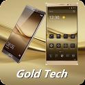 Gold Tech Theme for Huawei P9 icon